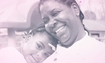 Older picture of Shirley and Precious